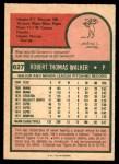 1975 O-Pee-Chee #627  Tom Walker  Back Thumbnail