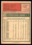 1975 O-Pee-Chee #498  Al Downing  Back Thumbnail