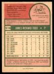 1975 O-Pee-Chee #519  Jim Todd  Back Thumbnail