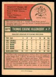 1975 O-Pee-Chee #377  Tom Hilgendorf  Back Thumbnail