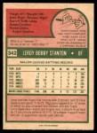 1975 O-Pee-Chee #342  Leroy Stanton  Back Thumbnail