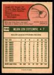 1975 O-Pee-Chee #183  Mel Stottlemyre  Back Thumbnail