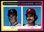 1975 O-Pee-Chee #312   -  Nolan Ryan / Steve Carlton Strikeout Leaders Front Thumbnail