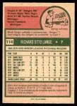 1975 O-Pee-Chee #114  Dick Lange  Back Thumbnail
