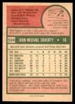 1975 O-Pee-Chee #524  John Doherty  Back Thumbnail