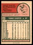 1975 O-Pee-Chee #537  Tommy Harper  Back Thumbnail