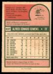 1975 O-Pee-Chee #437  Al Cowens  Back Thumbnail