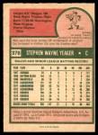 1975 O-Pee-Chee #376  Steve Yeager  Back Thumbnail