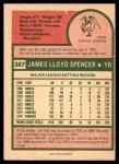 1975 O-Pee-Chee #387  Jim Spencer  Back Thumbnail