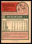 1975 O-Pee-Chee #305  Jim Colborn  Back Thumbnail