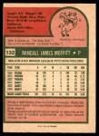 1975 O-Pee-Chee #132  Randy Moffitt  Back Thumbnail