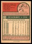 1975 O-Pee-Chee #375  Roy White  Back Thumbnail