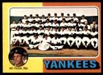 1975 O-Pee-Chee #611   -  Bill Virdon Yankees Team Checklist Front Thumbnail