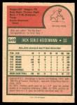 1975 O-Pee-Chee #649  Jack Heidemann  Back Thumbnail