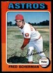 1975 O-Pee-Chee #252  Fred Scherman  Front Thumbnail