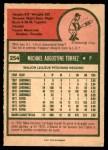 1975 O-Pee-Chee #254  Mike Torrez  Back Thumbnail