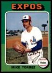 1975 O-Pee-Chee #254  Mike Torrez  Front Thumbnail