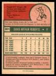 1975 O-Pee-Chee #301  Dave Roberts  Back Thumbnail