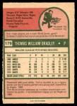 1975 O-Pee-Chee #179  Tom Bradley  Back Thumbnail