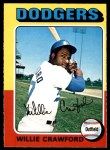 1975 O-Pee-Chee #186  Willie Crawford  Front Thumbnail