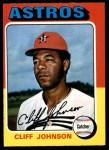1975 O-Pee-Chee #143  Cliff Johnson  Front Thumbnail