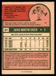 1975 O-Pee-Chee #31  Dave Rader  Back Thumbnail