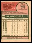 1975 O-Pee-Chee #553  John Boccabella  Back Thumbnail