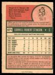 1975 O-Pee-Chee #471  Bob Stinson  Back Thumbnail