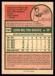 1975 O-Pee-Chee #164  Mickey Rivers  Back Thumbnail