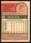 1975 O-Pee-Chee #607  Jim Holt  Back Thumbnail