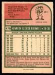 1975 O-Pee-Chee #479  Ken Boswell  Back Thumbnail