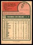 1975 O-Pee-Chee #442  Maximino Leon  Back Thumbnail