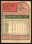 1975 O-Pee-Chee #418  Leo Foster  Back Thumbnail