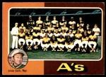 1975 O-Pee-Chee #561   -  Al Dark Athletics Team Checklist Front Thumbnail