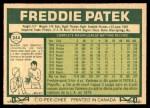 1977 O-Pee-Chee #244  Freddie Patek  Back Thumbnail