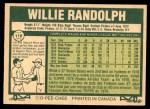 1977 O-Pee-Chee #110  Willie Randolph  Back Thumbnail