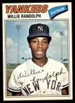 1977 O-Pee-Chee #110  Willie Randolph  Front Thumbnail