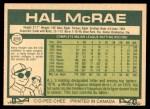 1977 O-Pee-Chee #215  Hal McRae  Back Thumbnail
