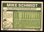 1977 O-Pee-Chee #245  Mike Schmidt  Back Thumbnail