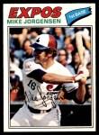 1977 O-Pee-Chee #9  Mike Jorgensen  Front Thumbnail