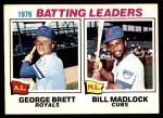 1977 O-Pee-Chee #1   -  George Brett / Bill Madlock Batting Leaders Front Thumbnail