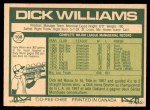 1977 O-Pee-Chee #108  Dick Williams  Back Thumbnail