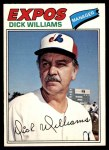 1977 O-Pee-Chee #108  Dick Williams  Front Thumbnail