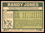 1977 O-Pee-Chee #113  Randy Jones  Back Thumbnail