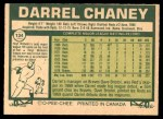 1977 O-Pee-Chee #134  Darrel Chaney  Back Thumbnail
