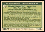 1977 O-Pee-Chee #262   -  Minnie Minoso Record Breaker Back Thumbnail