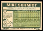1977 O-Pee-Chee #245  Mike Schmidt  Back Thumbnail