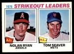 1977 O-Pee-Chee #6   -  Nolan Ryan / Tom Seaver Strikeout Leaders Front Thumbnail