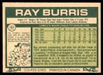 1977 O-Pee-Chee #197  Ray Burris  Back Thumbnail