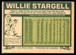 1977 O-Pee-Chee #25  Willie Stargell  Back Thumbnail